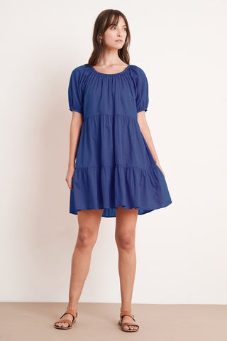 RENELLE COTTON VOILE DRESS IN PATRIOT