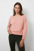 SLOE COZY LUX V-NECK SWEATSHIRT IN ROSA