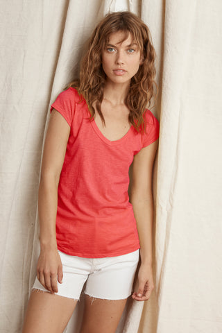 SUMETTE COTTON SLUB T-SHIRT IN RIO
