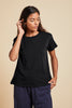 TOPANGA ORAGNIC COTTON TEE IN BLACK