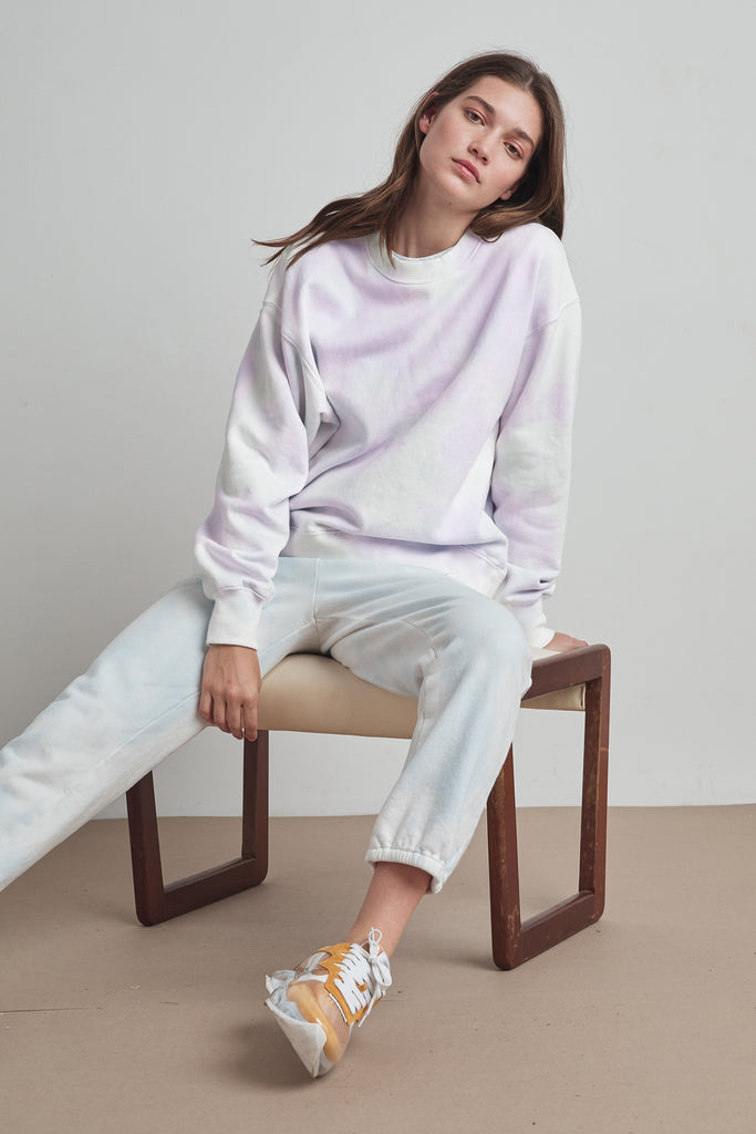 KELSEY CLOUD FLEECE PULLOVER IN PURPLE
