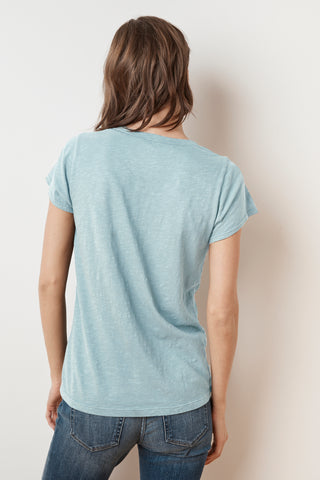 JILIAN ORIGINAL SLUB V-NECK TEE IN NINO