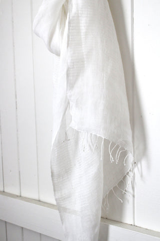 Once Was Lost AMARA SCARF in White