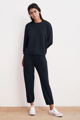 ANELLY LUXE FLEECE PULLOVER IN NIGHT