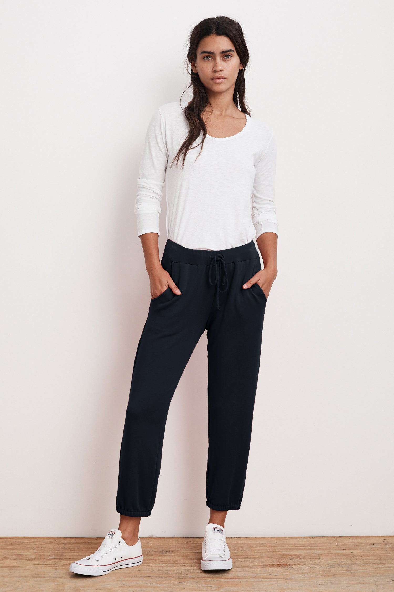 CHAVA LUXE FLEECE SWEATPANT IN NIGHT
