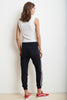 XIA STRIPE TRIM TERRY JOGGER PANT IN NIGHT