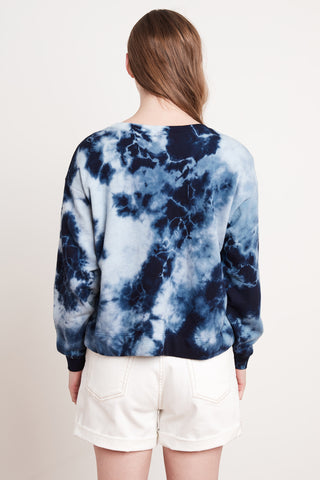 ADELPHA ATHLEISURE TIE DYE TOP IN BLUE