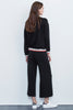 AVALYN FLEECE WIDE LEG PANT IN BLACK