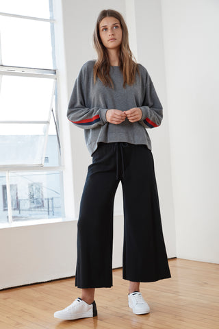 ADALIA ATHLEISURE LOUNGE PANT IN BLACK