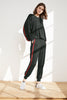DIOR LUXE FLEECE STRIPE JOGGER IN ARMY