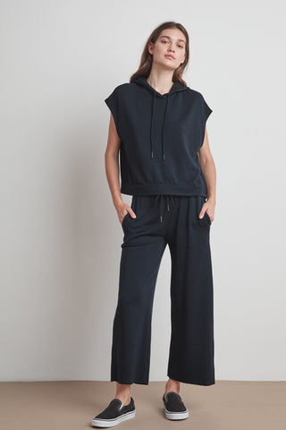 KINLEY VISCOSE FLEECE SWEATPANT IN BLACK