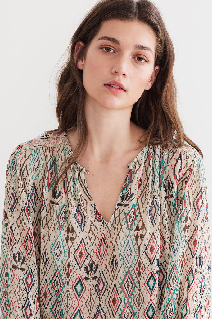BRINN AZTECA LUREX BLOUSE IN MULTI