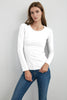 MARITZA JERSEY LONG SLEEVE TEE IN WHITE