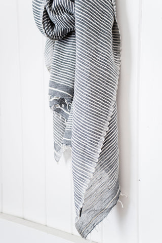 Once Was Lost BASU SCARF in Charcoal