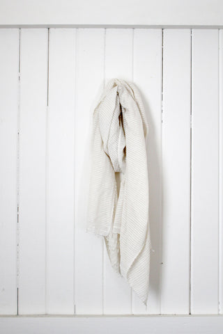 Once Was Lost BASU SCARF in IVORY