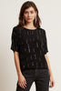 JONELLE BEADED VISCOSE TOP IN BLACK
