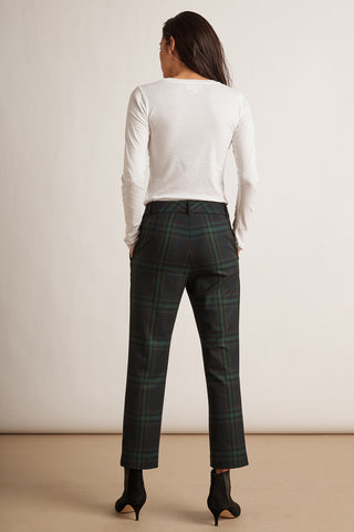 JACKIE BRENLEY PANTS PANT IN GREEN PLAID