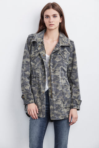 IRENE ARMY JACKET IN CAMO