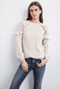 DANE RUFFLE CASHMERE SWEATER IN BISQUE