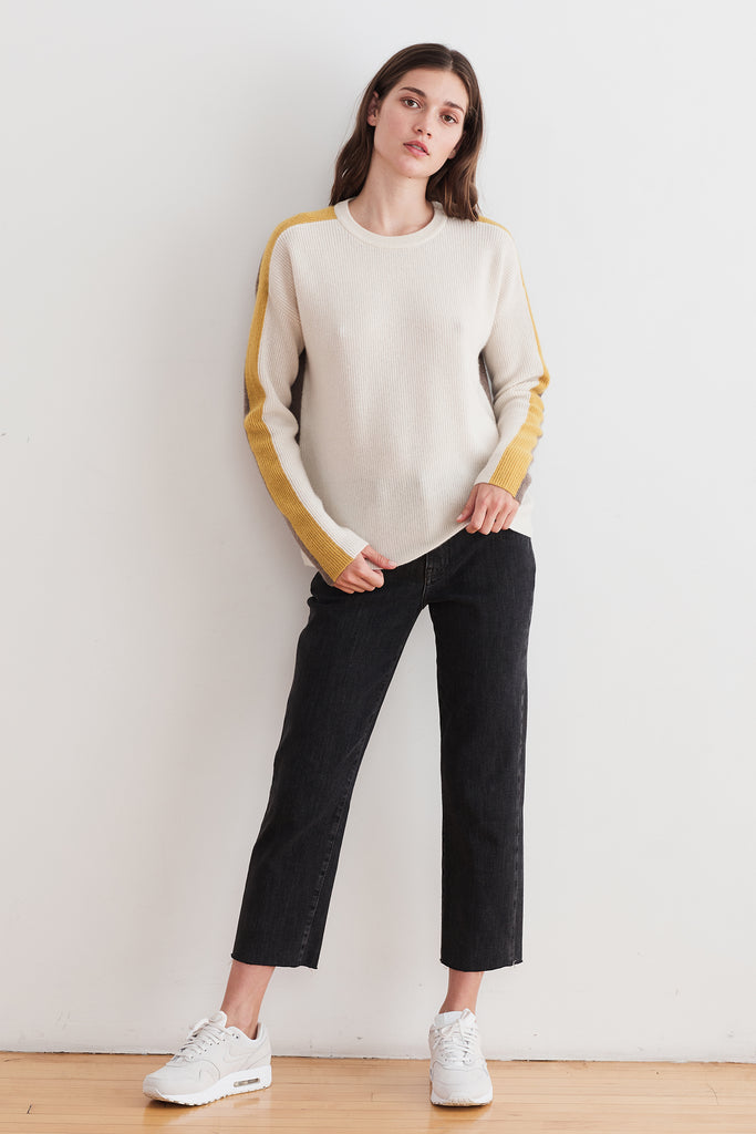 POLLY CASHMERE SWEATER IN MILK