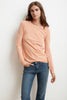 LIZ LONG SLEEVE ROUND NECK TEE IN CRUSH