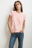 TRESSA SHORT SLEEVE CREW NECK TEE IN ROSETTA