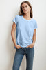 TRESSA SHORT SLEEVE CREW NECK TEE IN ICE