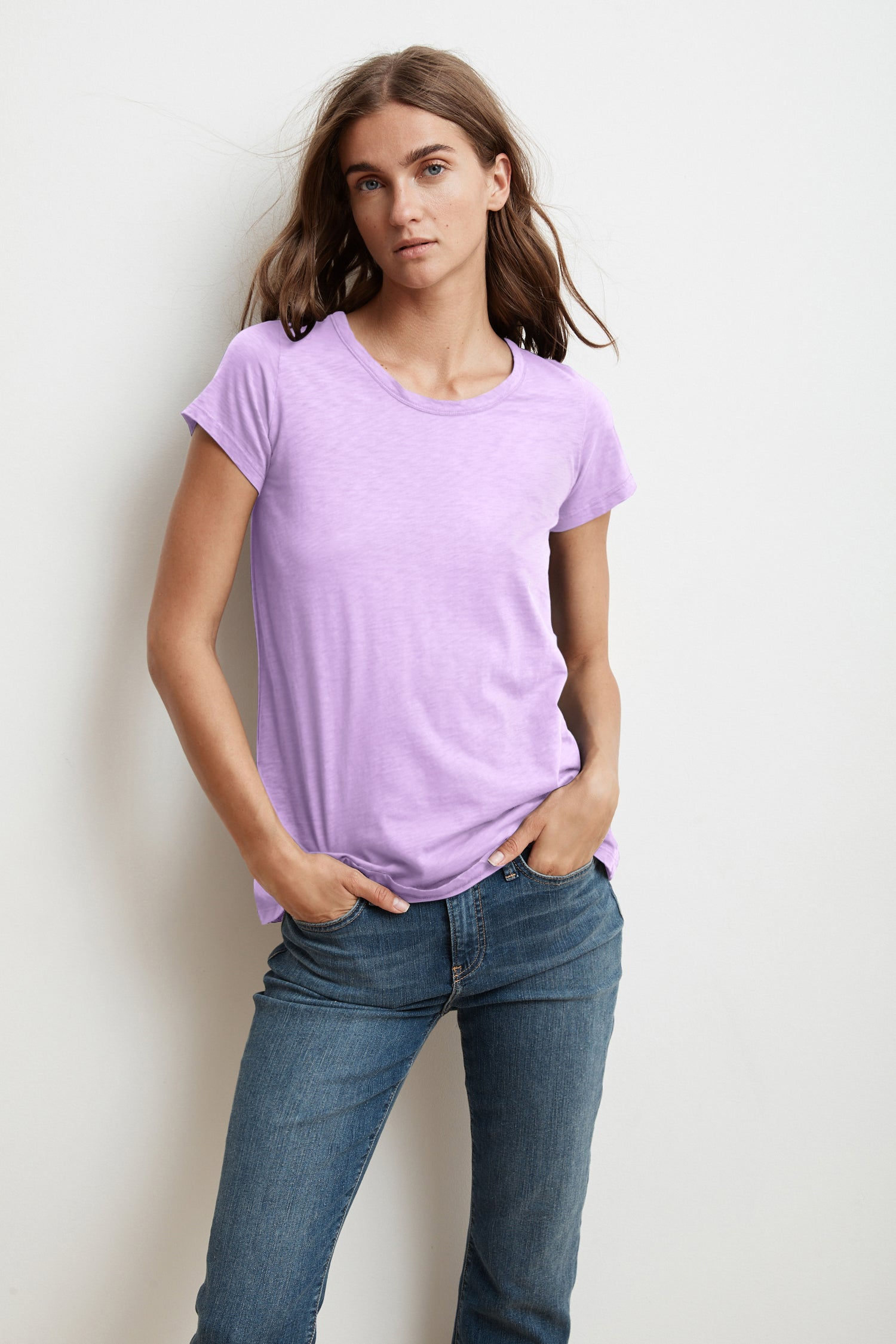TRESSA SHORT SLEEVE CREW NECK TEE IN SORBET