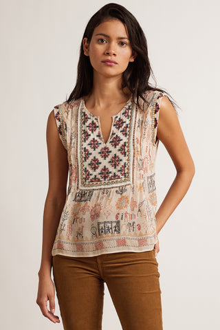 ALURRA CLEO PRINT TOP IN MULTI