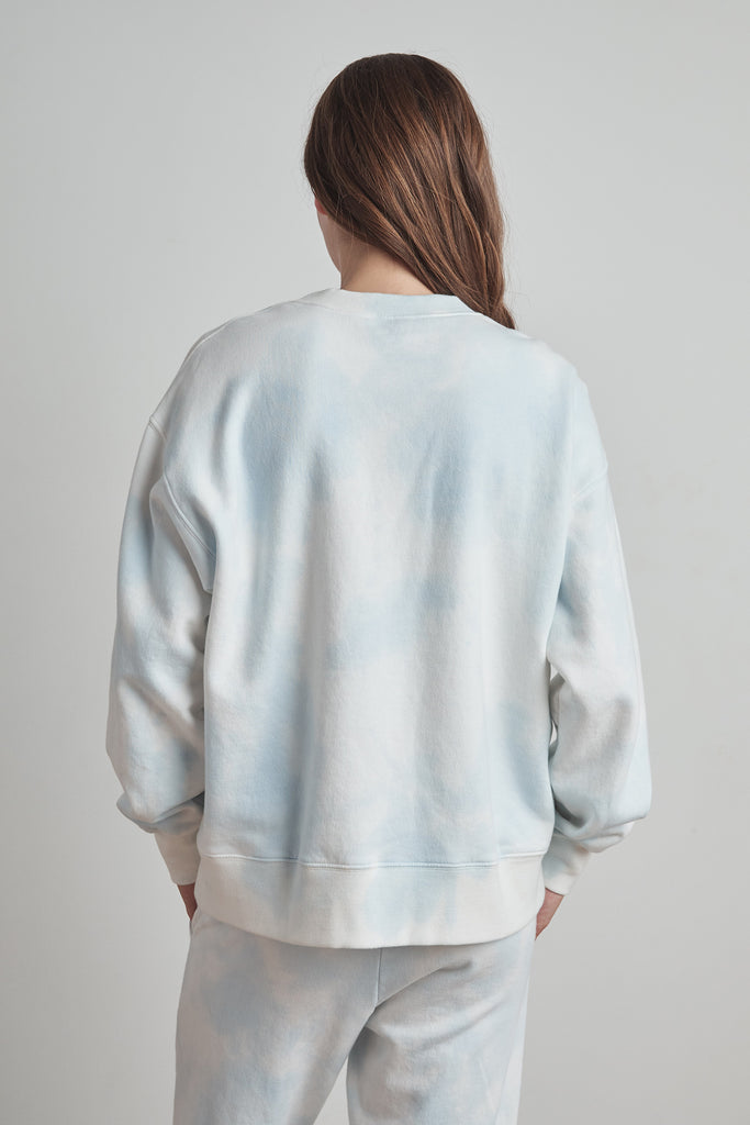 KELSEY CLOUD FLEECE PULLOVER IN BLUE