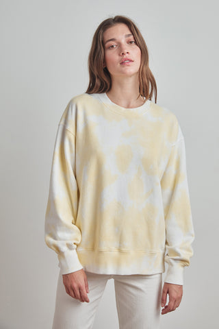 KELSEY CLOUD FLEECE PULLOVER IN YELLOW