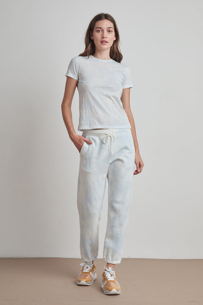CARMEN CLOUD FLEECE PANT IN BLUE
