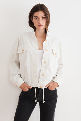 NICOLA COTTON CANVAS JACKET IN SAND