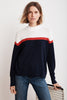 CORETTA LIGHTWEIGHT COTTON CASHMERE MOCK SWEATER IN MULTI