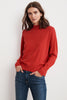 DANIELLE COTTON CASHMERE MOCK NECK SWEATER IN CHILLI