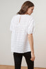 MAYLIN COTTON EYELET PUFF SLEEVE BLOUSE IN WHITE