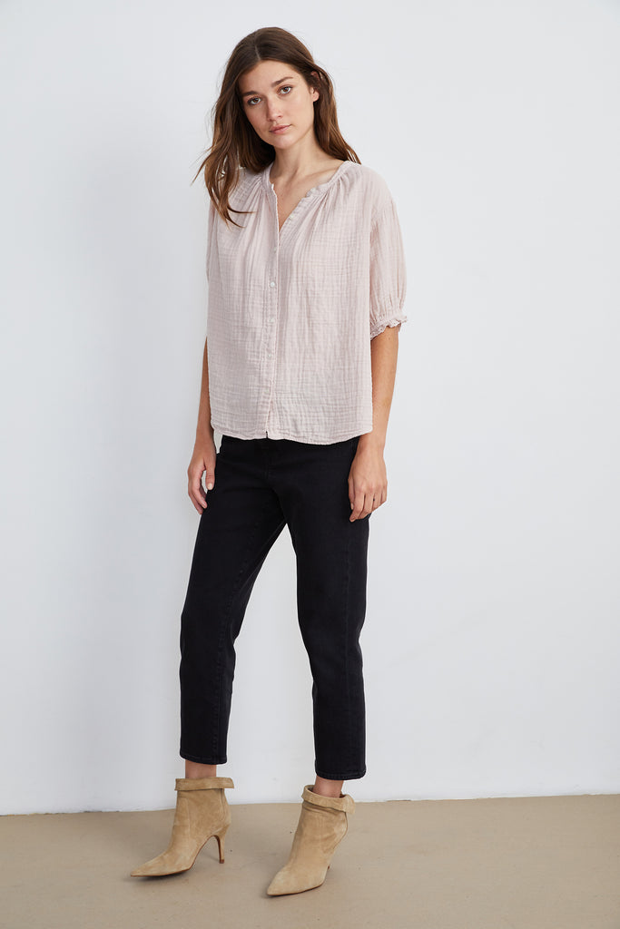 CANDRA COTTON GAUZE BLOUSE IN NASSAU