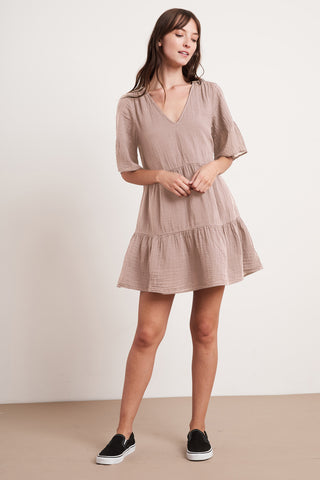 CHESNEY COTTON GAUZE DRESS IN ALLURE