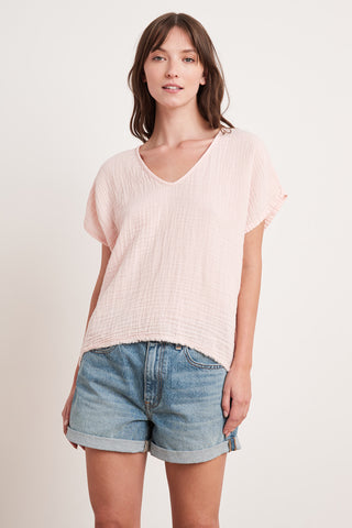 ELSA COTTON GAUZE TOP IN ALLURE