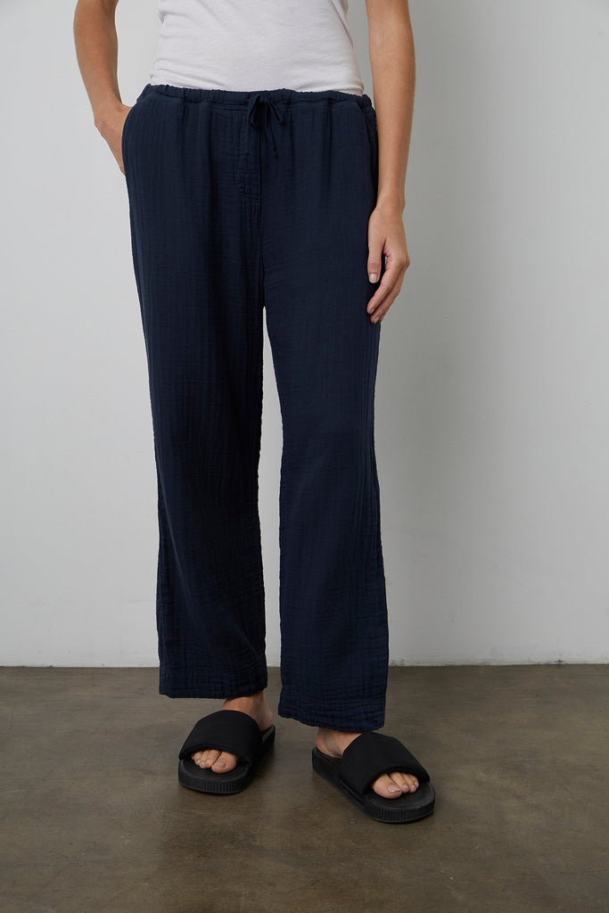 FRANNY COTTON GAUZE PANT IN SHADOW