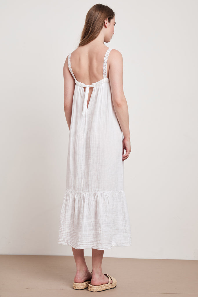 LILA COTTON GAUZE DRESS IN WHITE