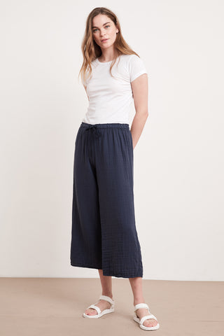NYLEEN COTTON GAUZE PANT IN POSTMAN