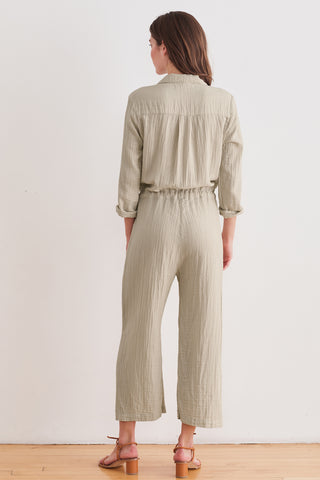 PENELOPE COTTON GAUZE JUMPSUIT IN DUSK