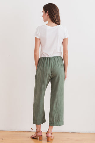 SIDNEY COTTON GAUZE PANT IN MOSS