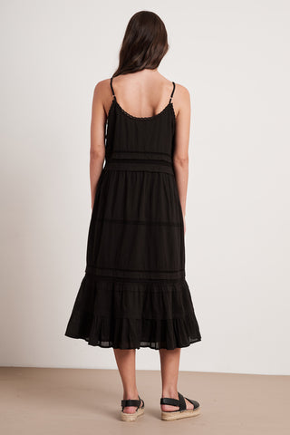 ZULY COTTON LACE DRESS IN BLACK