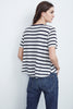 TIANA COTTON MODAL STRIPE SWING TEE IN CREAM