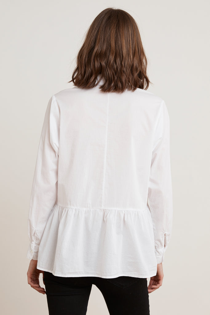 CARLING COTTON POPLIN BLOUSE IN WHITE