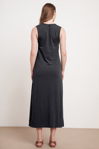 ALEXANDRA COTTON SLUB DRESS IN BLACK