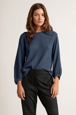 EVA COTTON SLUB TOP IN ATLAS