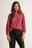 EVA COTTON SLUB TOP IN RASPBERRY